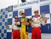Antonio Giovinazzi (BVM Srl, F.Aci Csai Tatuus FA010-FPT #24); Emanuele Zonzini (Euronova R.By Fortec, F.Aci Csai Tatuus FA010- FPT #35); Luca Ghiotto (Prema Powerteam Srl, F.Aci Csai Tatuus FA010-FPT #3)